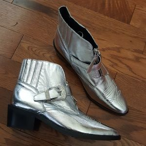 TOP SHOP silver booties